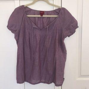 Merona Large Lilac Tunic Top